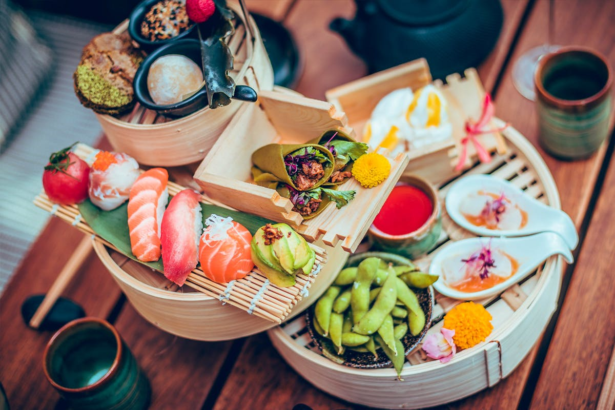Japanese Inspired Afternoon Tea for Two at Issho, Leeds