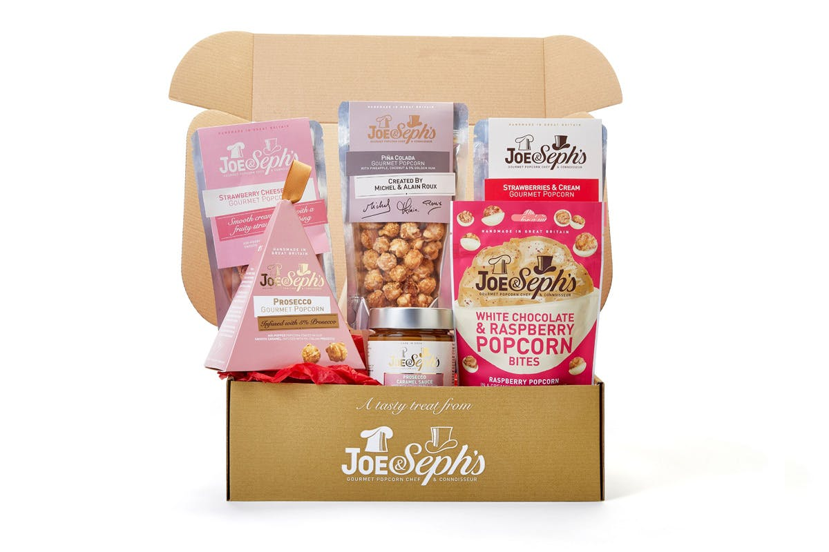 Joe & Seph's Valentines Popcorn Pamper Night In Box