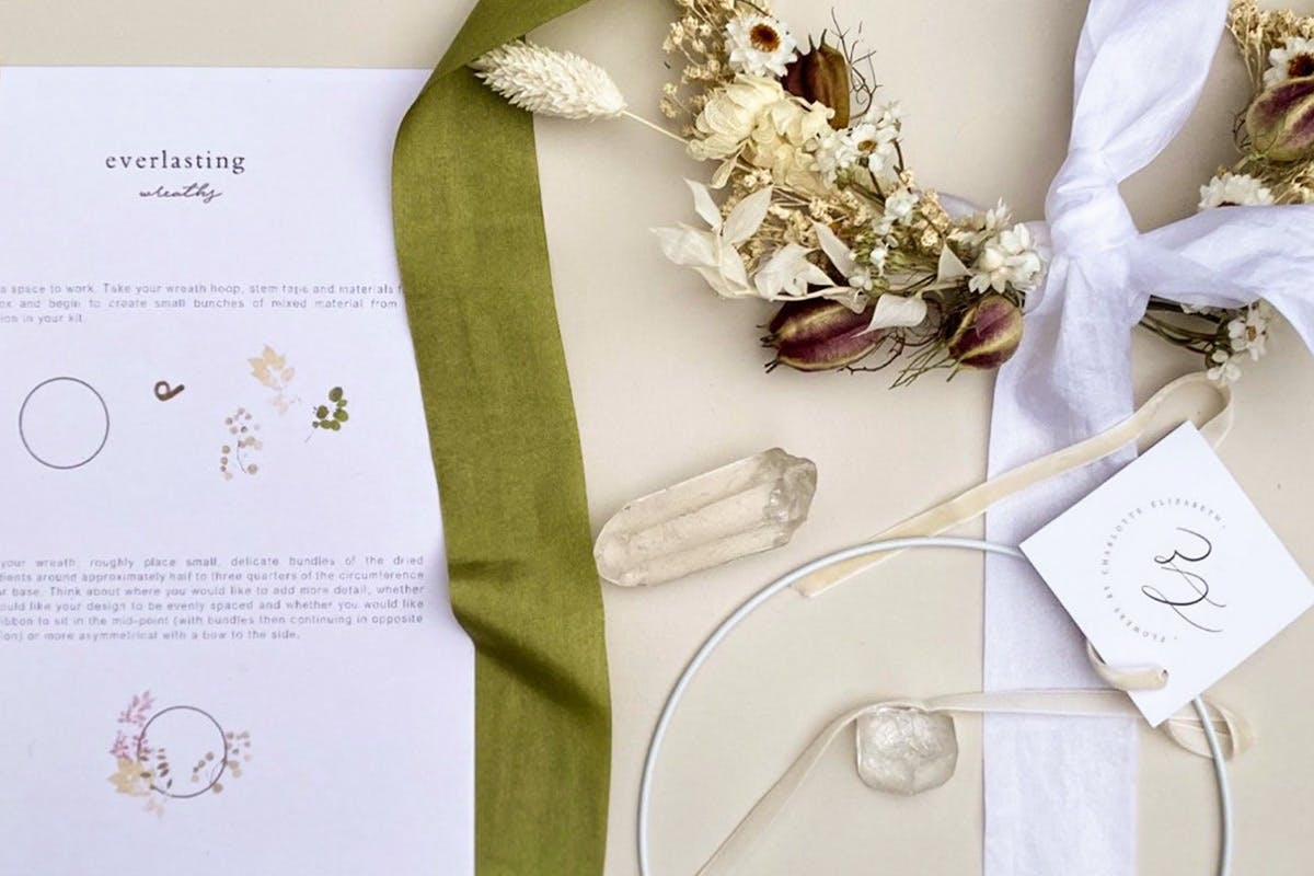 Make your Own Beautiful Everlasting Wreath with an At Home Kit