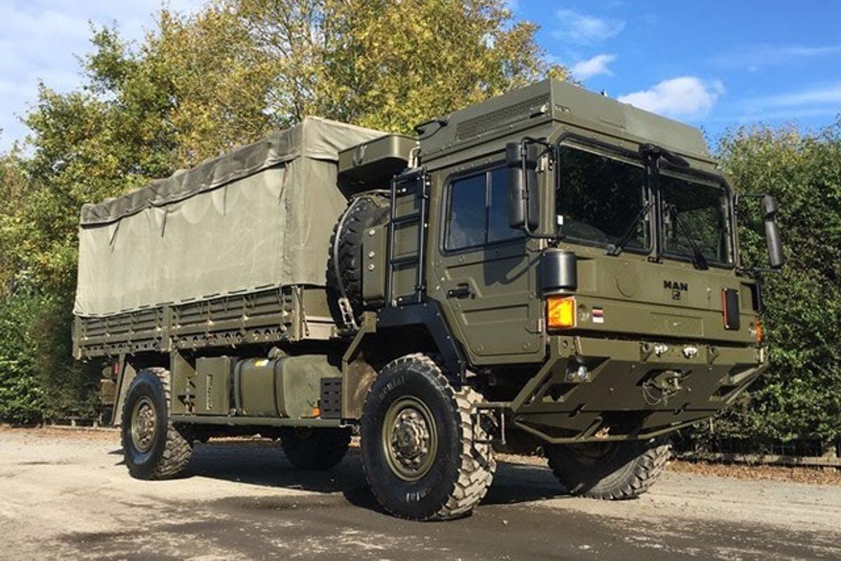 Man Sv 4x4 Army Truck Driving.