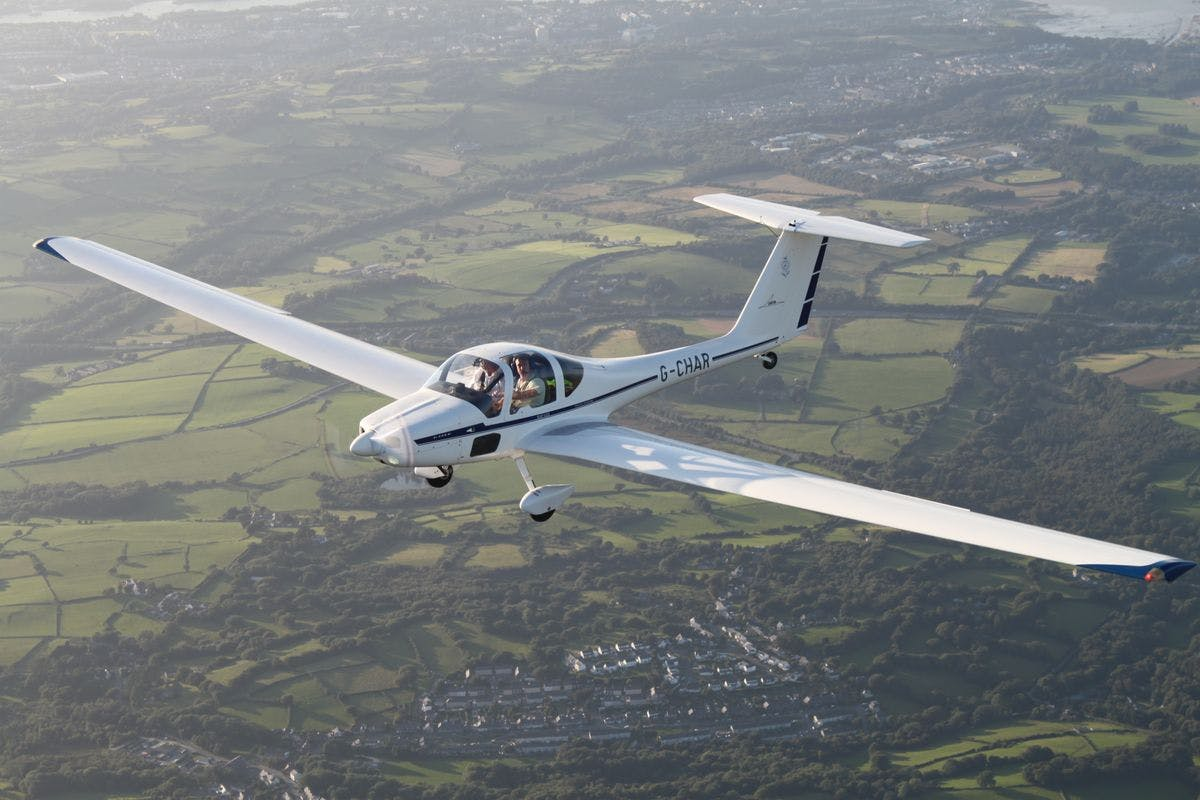 Motor Glider Flight Lesson over North Wales