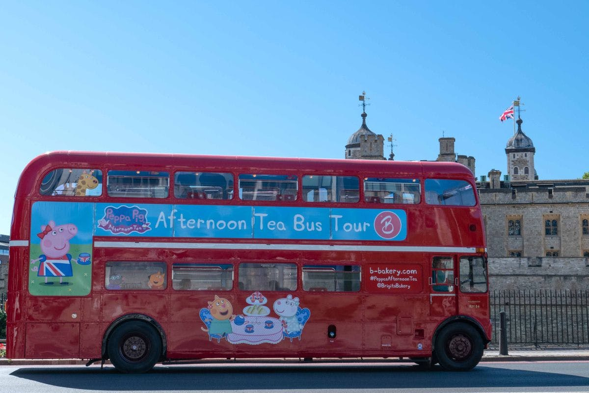Peppa Pig Afternoon Tea Bus Tour for One Adult