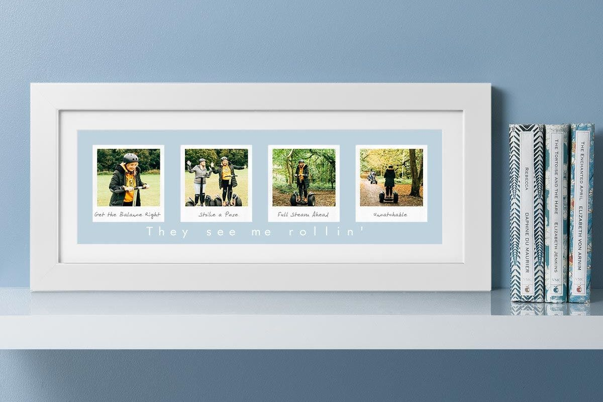 Personalised Remember The Days Four Image Wall Art