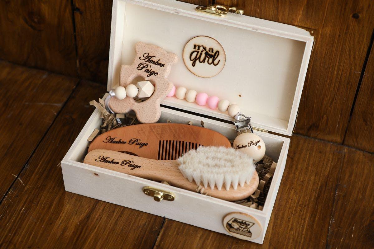 Personalised Wooden Baby Keepsake Box - Small