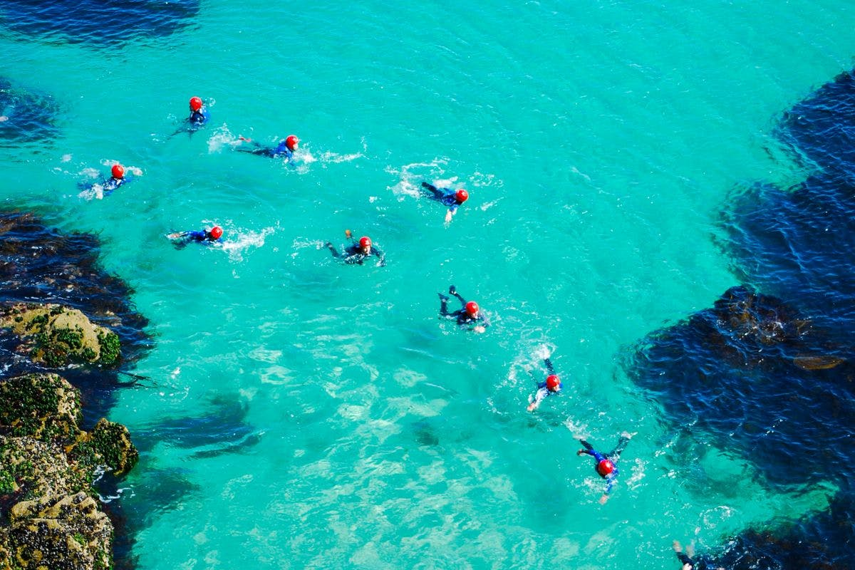 Private Guided Coasteering Experience for Four in Newquay