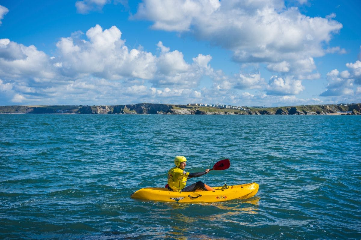 Private Sea Kayaking Adventure of the Newquay Coastline for Four