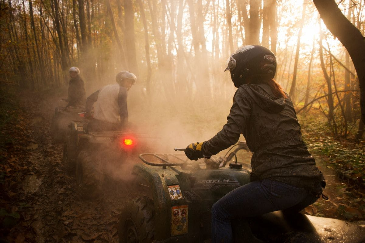 3 Hour Off Road Quad Bike Adventure Driving Experience For One On Your Own 350cc Yamaha Grizzly Quad Bike   Virgin Experience Days Voucher