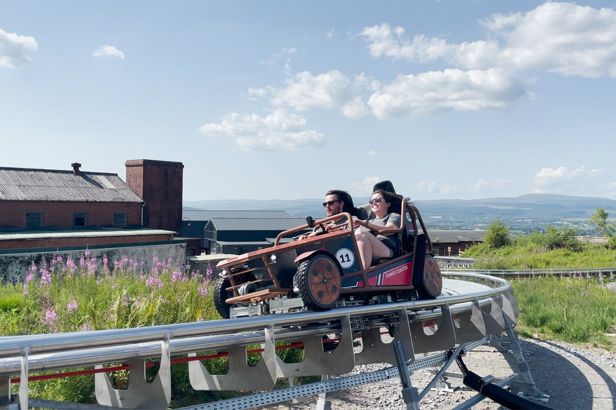 Ride the Tower Coaster for Two at Zip World