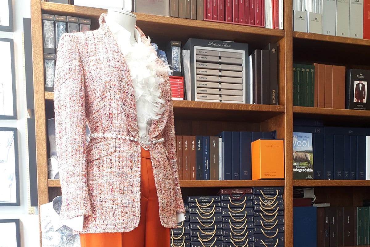 Semi-Bespoke Tailored Lady's Suit from Holland & Sherry Collection at London's Famous Savile Row