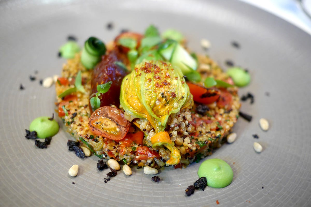 Seven Course Vegan Menu Gourmand for Two with Cookbook at Michelin Starred Galvin La Chapelle