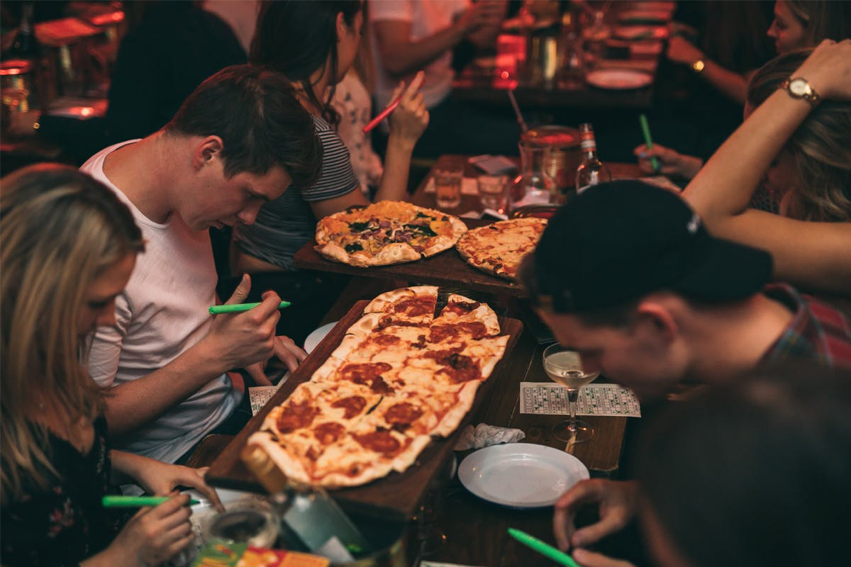 Singo Bingo with a Metre Pizza and Cocktails for Two at Bunga Bunga, Battersea