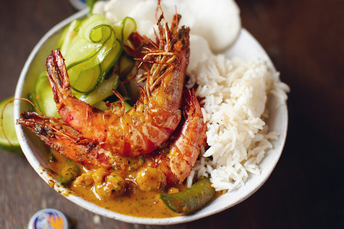 South Indian Prawn Curry Class at Jamie Oliver's Cookery Class