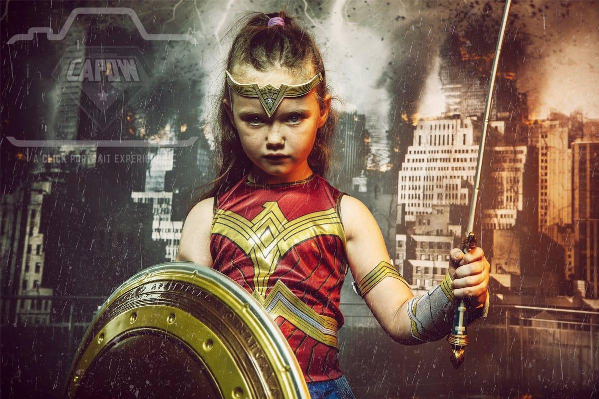 Superhero Photoshoot by CAPOW Portraits