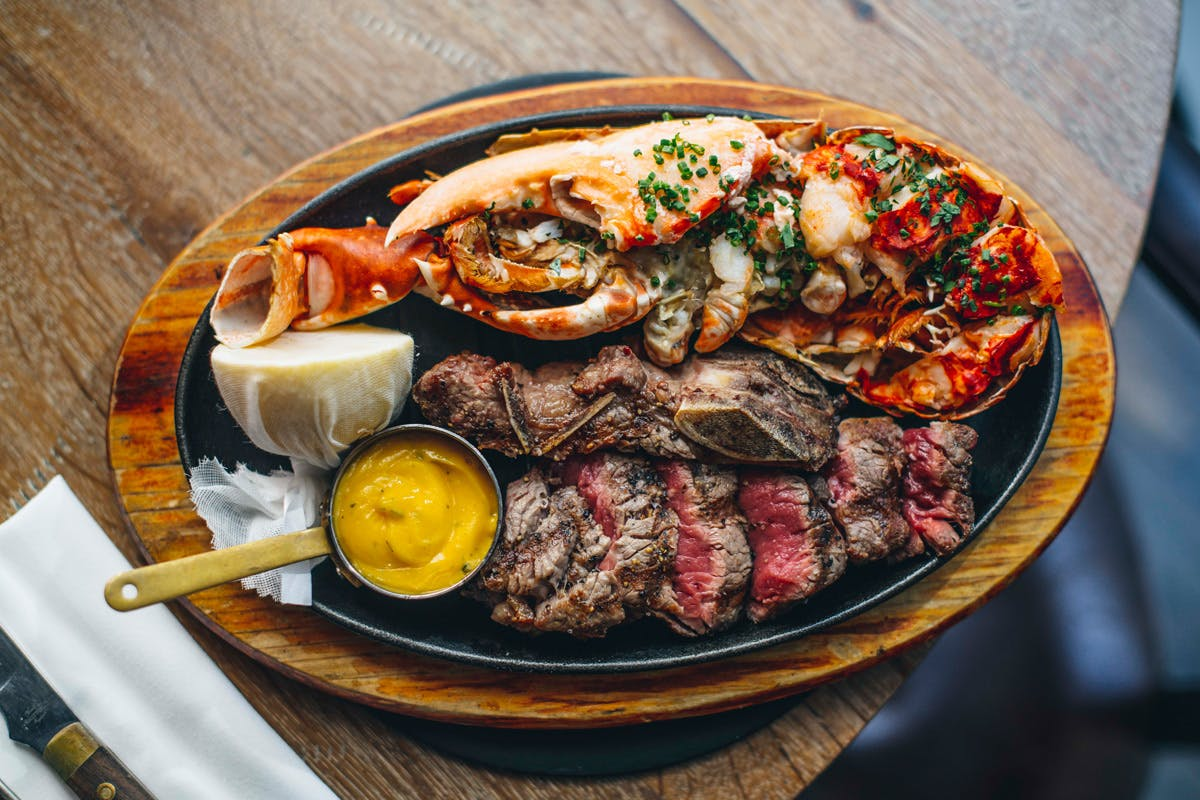 Surf 'n' Turf Platter to Share at New Street Grill