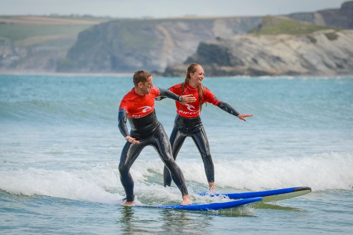 Taster Surf Lesson for Two at Newquay Surf School