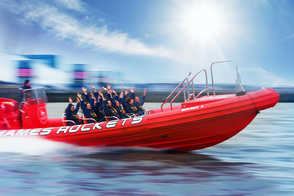 Thames Rockets Private Group Speedboat Ride