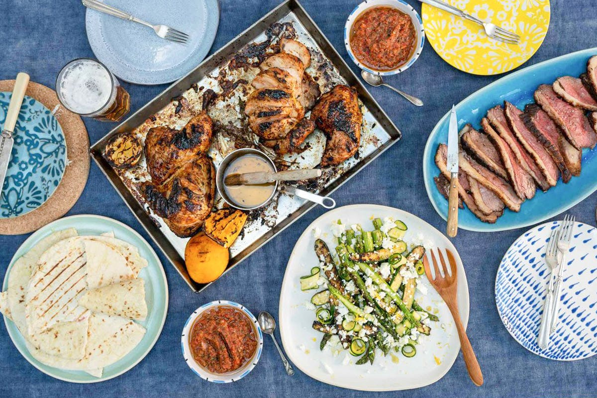 The Cookaway BBQ Recipe Box for Four