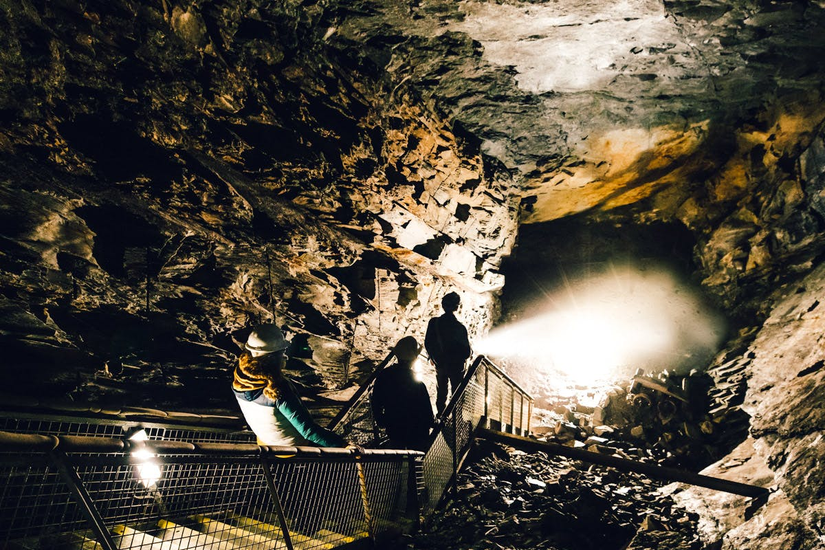 Tour of the Llechwedd Deep Mine for Six