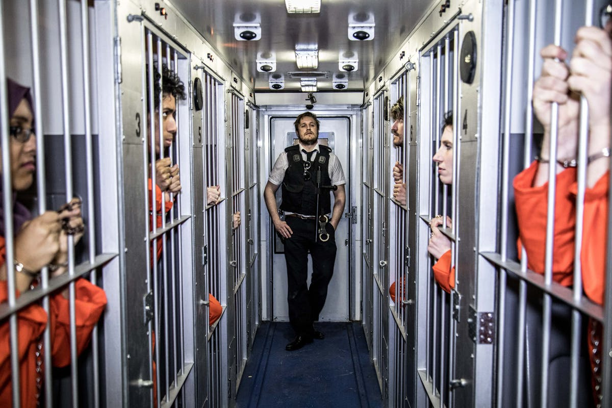 Trapped in a Prison Van Escape Game for Two