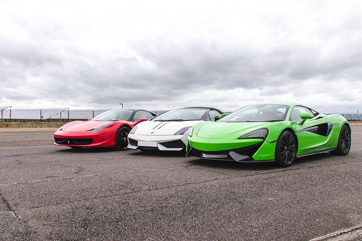 Triple Platinum Supercar Blast plus High Speed Passenger Ride and Photo