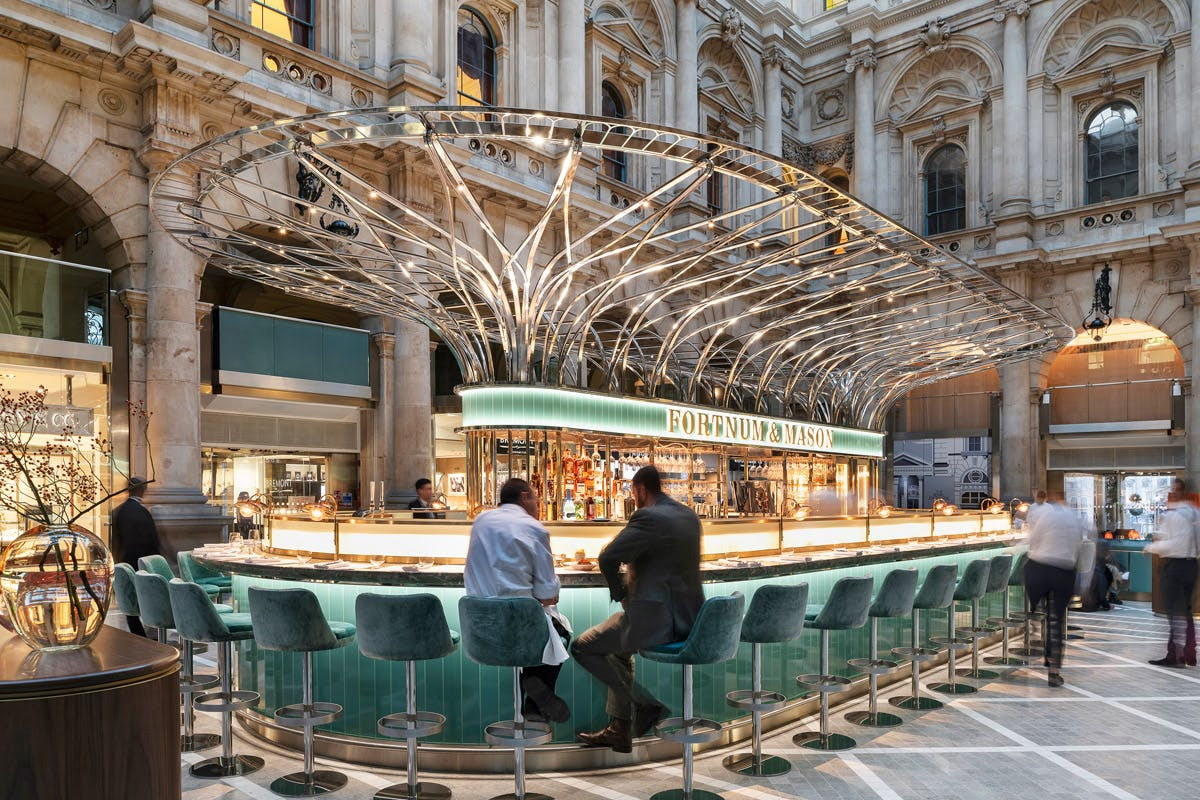 Two Course Dinner with Cocktail for Two at The Fortnum & Mason Bar and Restaurant at Royal Exchange