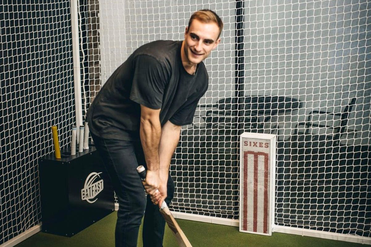 Two Hour Cricket Simulator Experience with Drinks and Dining Feast for Four
