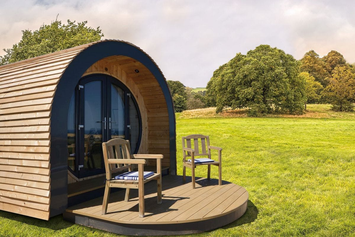 Two Night Luxury Glamping Pod Stay for Two at New Lodge Farm, Rockingham Forest