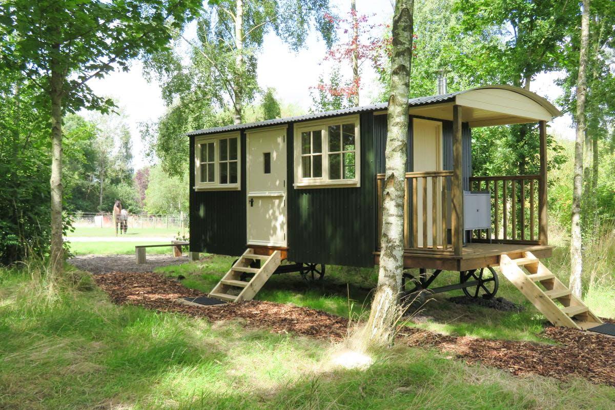 Two Night Shepherd's Hut Break for Two at Catanger Farm