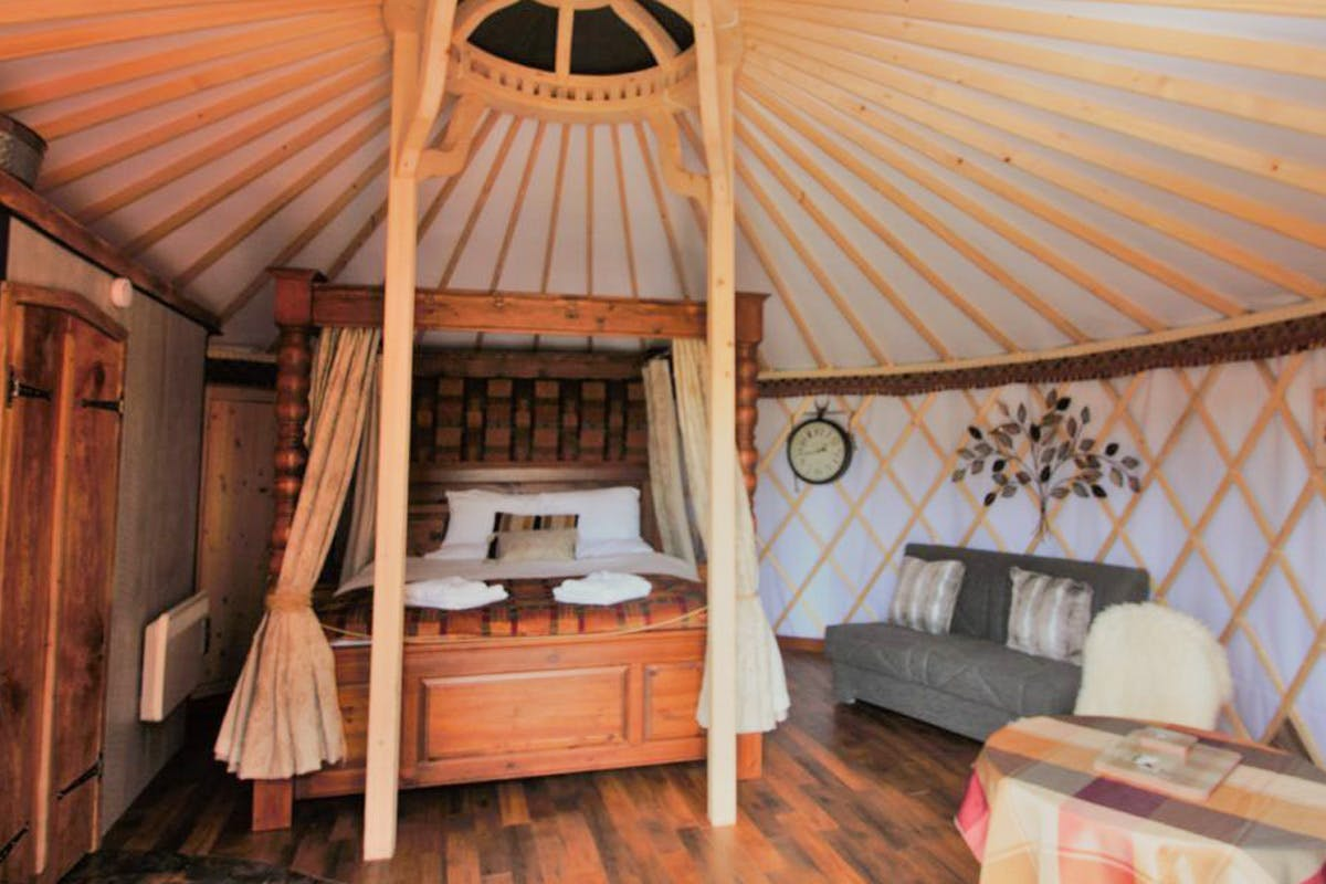 Two Night Somerset Break in a Luxury Yurt with Four Poster Bed for Two at Wall Eden Farm