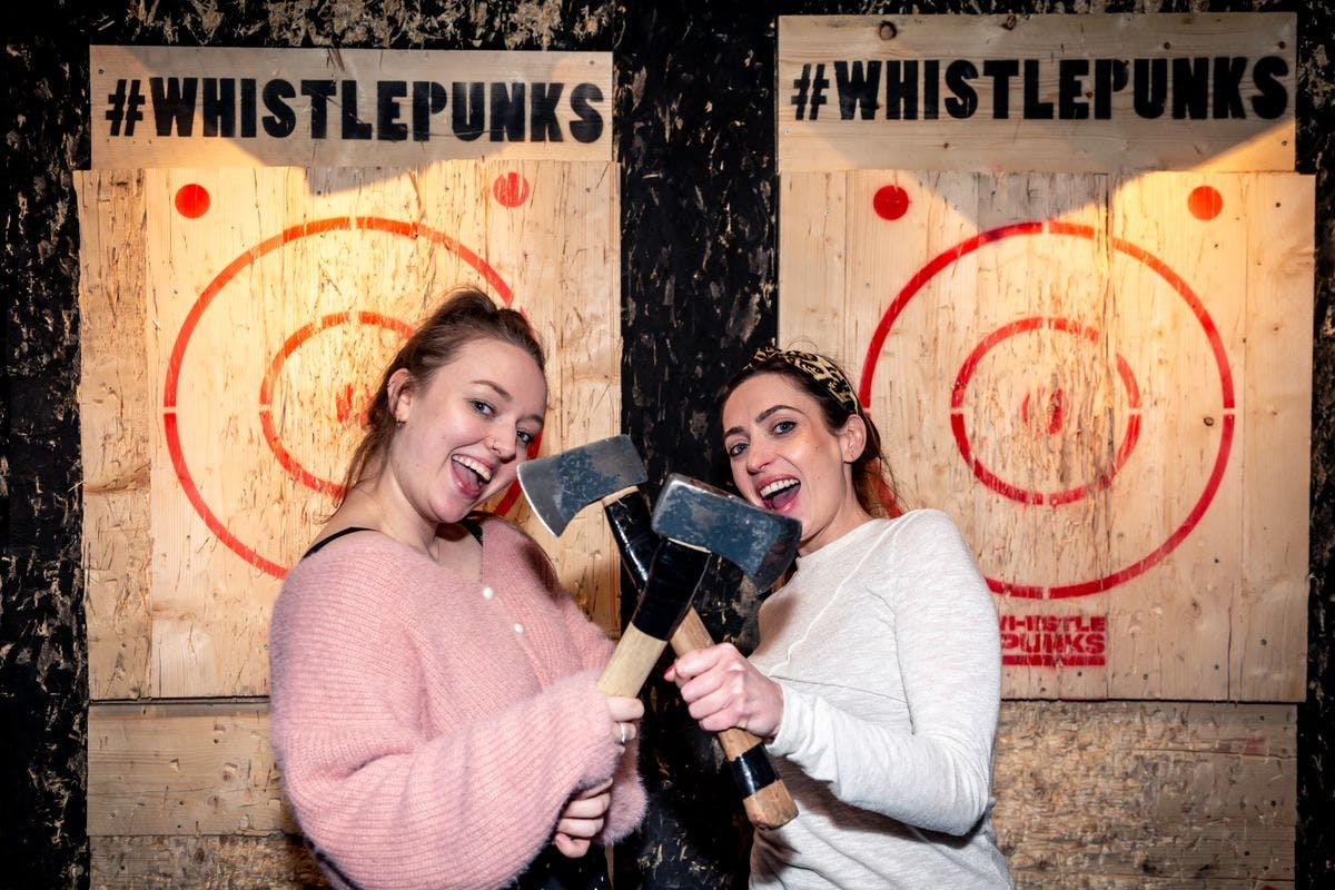Urban Axe Throwing for Two at Whistle Punks Manchester or Bristol