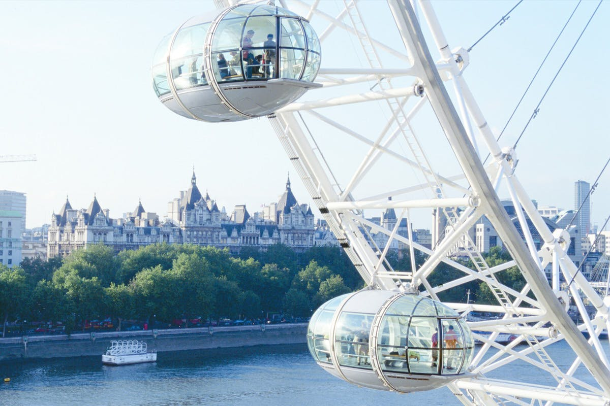 Visit to the London Eye and Three Course Meal with Bubbles at Skylon for Two