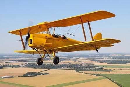 Tiger Moth Flight and Tank Driving at Duxford