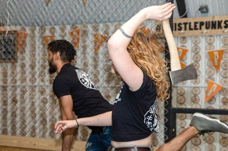Urban Axe Throwing with a Beer for Two at Whistle Punks Manchester or Bristol