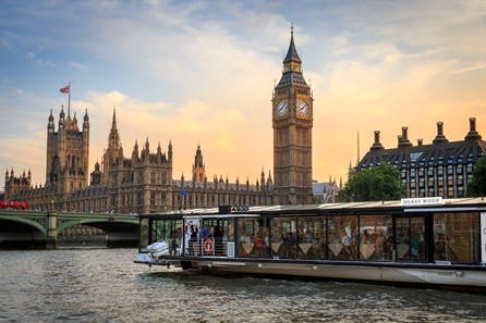 Bateaux London Three Course Sunday Lunch River Cruise with Live Music for Two