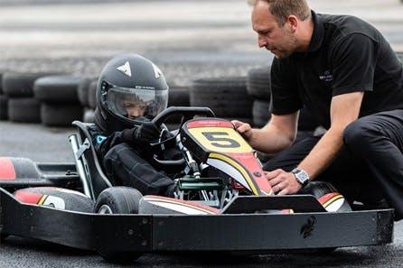Beginners Junior Karting Lesson at Three Sisters Outdoor Circuit