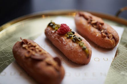 Cakes and a Glass of Laurent Perrier Champagne for Two at Queens of Mayfair