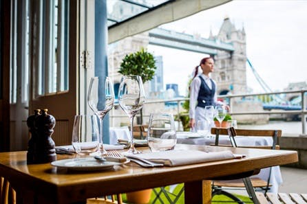 Date Night with Three Course Dinner and Fizz for Two at Butlers Wharf Chop House