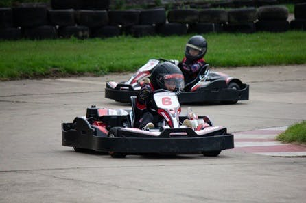 Family of Four Karting Experience with Lunch at Wilton Mill Outdoor Circuit