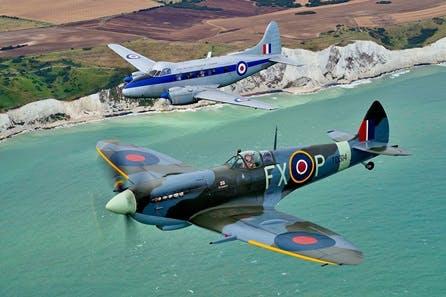 Fly Alongside a Spitfire White Cliffs of Dover Tour