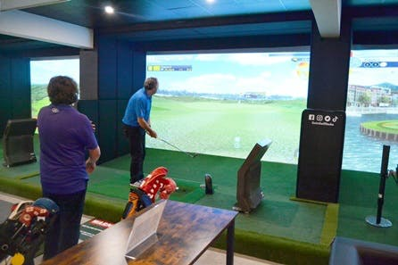 Indoor Virtual Golf Experience with Refreshments for Two