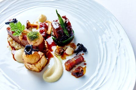 Michelin Eight Course Tasting Menu with a Glass of Champagne for Two at Michael Caines Lympstone Manor