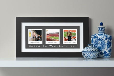 Personalised Remember The Days Three Image Wall Art