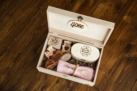 Personalised Wooden Baby Keepsake Box - Large