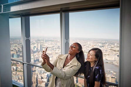 Sights of London One Night Break with The View from The Shard and Dining at Marco Pierre White's London Steakhouse Co for Two