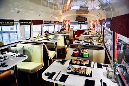Sparkling Afternoon Tea Vintage Bus Tour of Edinburgh for Two