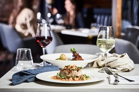 Three Course Midweek Dinner and Bottle of Wine for Two at the Village Brasserie by Velvet, Manchester