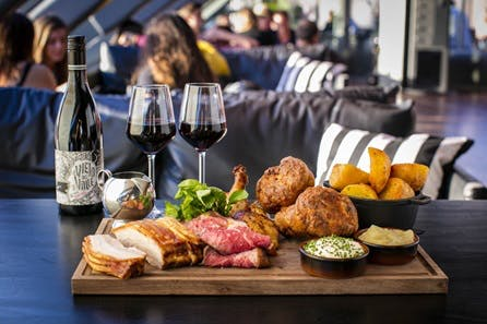Three Course Sunday Roast with Wine and Live Soul for Two at Madison, St Pauls