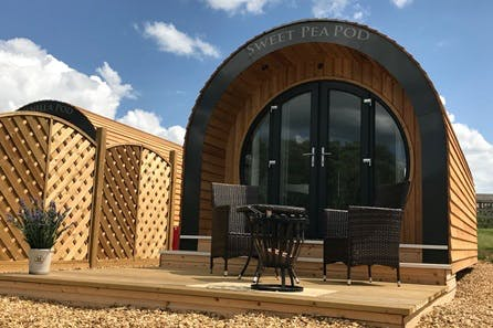 Three Night Luxury Glamping Pod Stay for Two at New Lodge Farm, Rockingham Forest