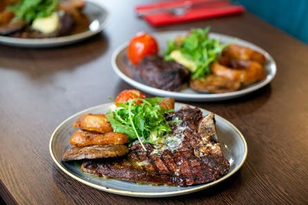 Two Course Steak Dinner for Two with a Bottle of Wine at Trafford Hall Hotel
