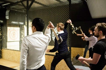 Urban Axe Throwing for Two at Whistle Punks, London
